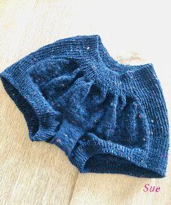 毛糸のおパンツ 編みあがり(*'▽')