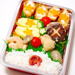 お弁当とモチモチ大葉餃子