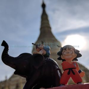 ヤンゴンの観光スポット「シュエダゴン・パゴダ」に行く