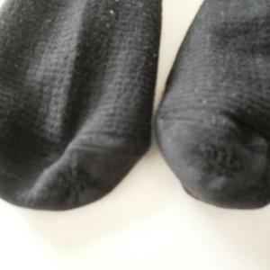 父の靴下をダーニングしました