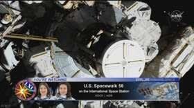 """【nhk news web】    10月19日07:42分、""""""""史上初 女性のみによる宇宙空間での船外活動"""""""""""