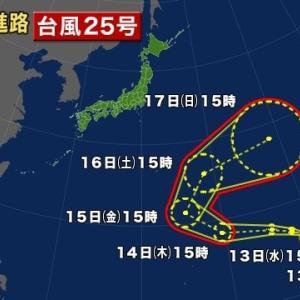 "【nhk news web】    11月12日17:08分、""""台風25号が発生"""""