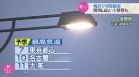 "【nhk news web】    12月7日06:31分、""""関東など寒い一日に 横浜で初雪観測"""""