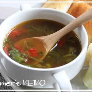 【話題入り】青ねぎとトマトのスープと、昨日の晩ごはん「冷製パスタ」。