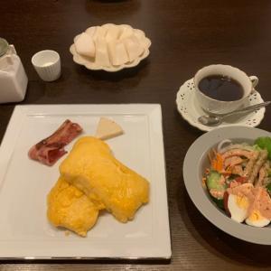 ペロッと完食の朝ごはん。
