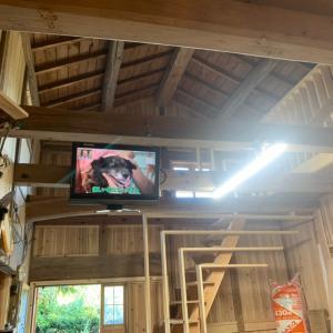 作業小屋に新たに設置されたもの!