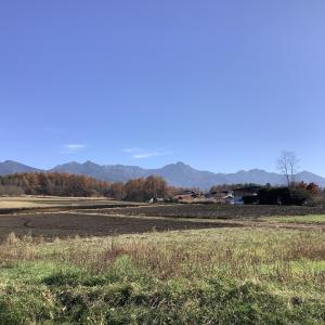 冬支度 西麓の風景