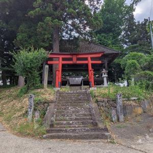 【篠尾神社】立派な割舞殿がありました:群馬県沼田市屋形原町