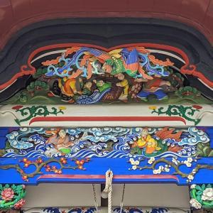 彫刻【遷流寺】修復されたばかりのきれいな彫刻:群馬県沼田市下川田町
