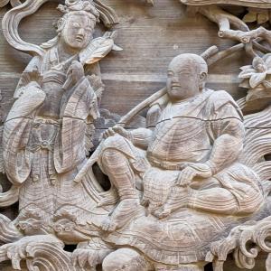 彫刻【中里神社】本当に浦島太郎なのか?:栃木県小山市中里