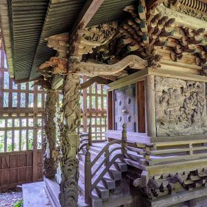 彫刻【八幡宮】千葉県の神社と何か関係が?:栃木県栃木市千塚町