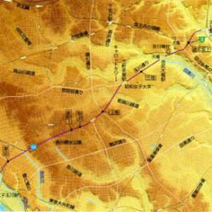 ちょっと一息:世田谷の凸凹地図