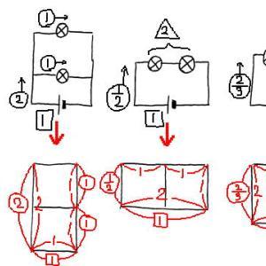 豆電球回路を面積図で解く