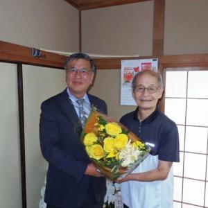 藤沢市長と吉野さんがご対面