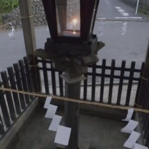 灯籠が大山詣で案内す伝統保存