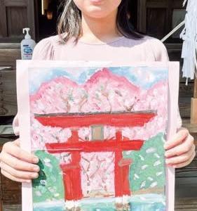 絵画展「厳島神社」の宮田さん