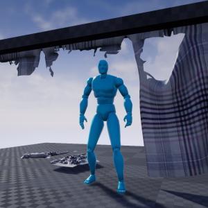 【UE4】FleXで裂ける布の設定方法