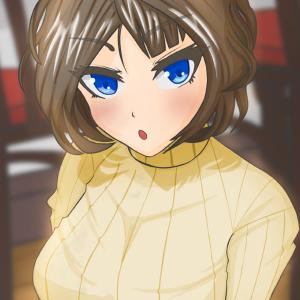 【イラスト】クリスタでお絵描き 縦セーターお姉さん