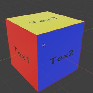 【Blender】一つのオブジェクトに対して、複数のUVマップ、複数のテクスチャを適用する方法 Blender 2.8版