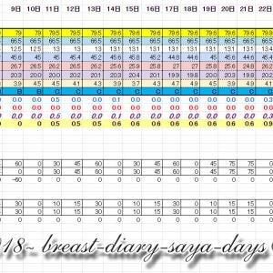 この1年の成長結果 2020年5月16日 妊婦バスト記録 32w1d