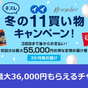 【ネスレ通販】55,000円分のコーヒーや生活用品が無料!さらに最大36,000円もらえるチャンス♡JAL・ANAマイル交換可