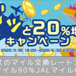 【ハピタス】マイラー必見!ANAマイル90%・JALマイル60%の交換レート♡ドッと20%増量キャンペーン