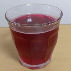 「野良赤シソ」を使って「しそジュース」を作りました。