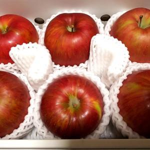 パイオラックスの株主優待で選んだリンゴが届きました