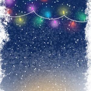 【スマホ用壁紙】12月の黒猫
