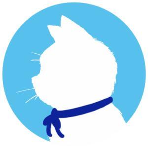 【プロフィール画像用】白猫横顔シルエット(単色)