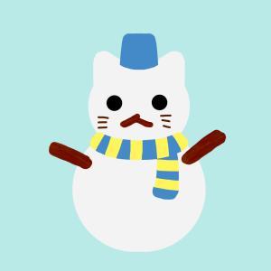 猫の雪だるま