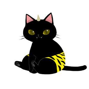 【節分】鬼のパンツをはいた猫