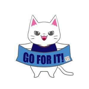 【ライオンズカラー風】ユニフォーム応援猫