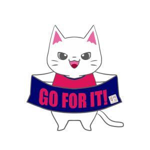 【セレッソカラー風】ユニフォーム応援猫
