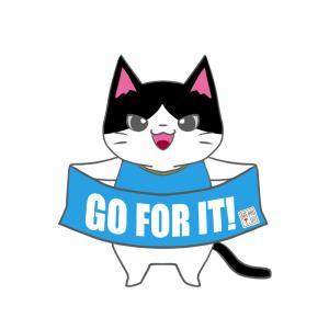 【フロンターレカラー風】ユニフォーム応援猫