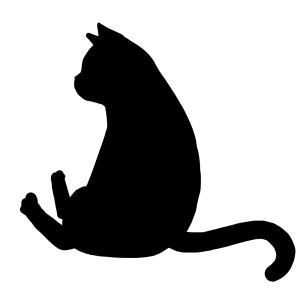 シルエットおすわり猫6