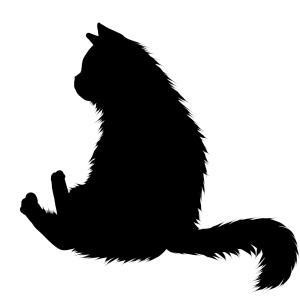 シルエットおすわり猫7