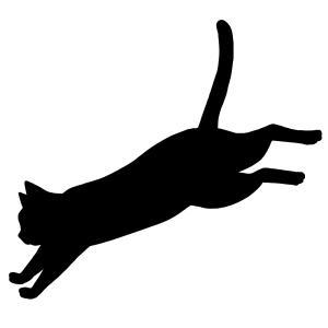 シルエットジャンプする猫1