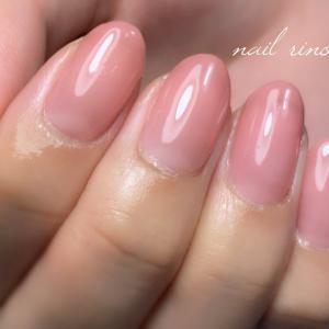 落ち着いたピンクのオフィスネイル 新潟 燕市ネイルサロン 【ネイルリノ】