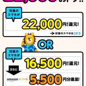 【ドコモ】MNP前にエントリーで最大22,000円分還元! 11月30日まで