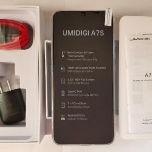 【スマホ】「UMIDIGI A7S」到着&開封  Antutuスコアは・・・