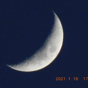 上弦の月の前日 月が綺麗ですね!