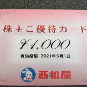 2020年 株主優待 11月 西松屋 わが家の優良銘柄・・・がんばってる!
