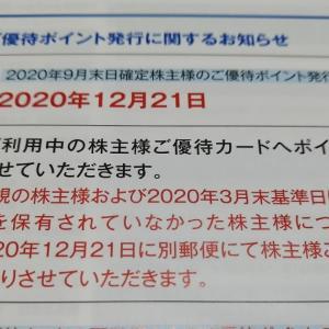 2020年 株主優待 12月 アトム 優待ポイント付与日  今年行ったお店!
