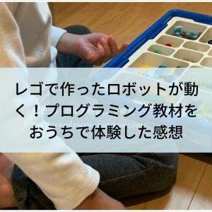 【レゴでプログラミング】自分で作ったロボットが動く感動!遊びながら学習できる楽しい~♪