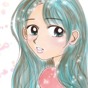 【デジタルイラスト】振り向く女のコ