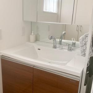 【洗面所】完成!見た目と家族に配慮した洗面台下収納