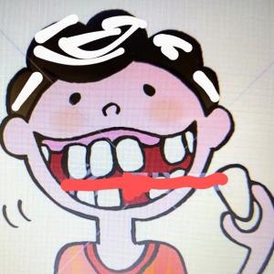 器用に歯を吐き出す母