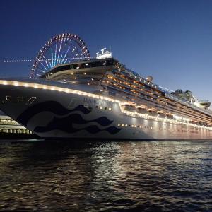 大阪港 天保山岸壁に豪華客船ダイヤモンドプリンセスが入港していました