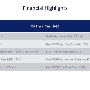 やや不安が残る Anaplan, Inc. (PLAN) 2020年度4Q決算を振り返る